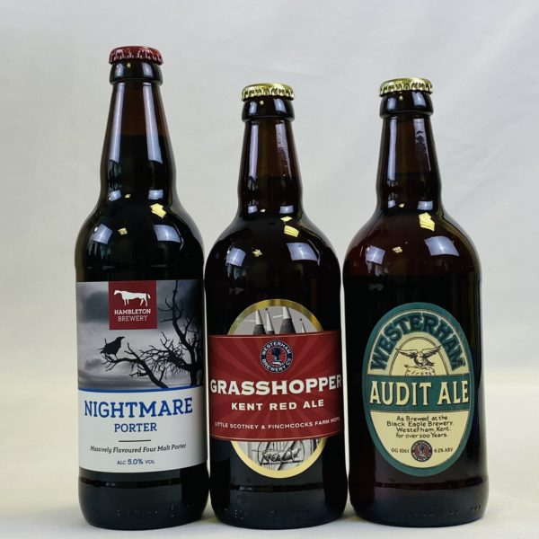 Great British Booze Cupboard - Gift of 6 Dark Beers with Engraved Glass 1