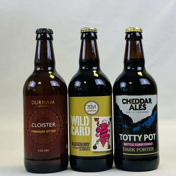 Great British Booze Cupboard - Gift of 6 Dark Beers with Engraved Glass 2